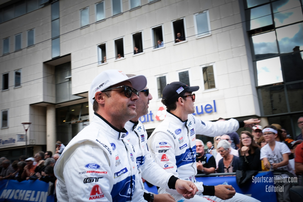 No 67 FORD CHIP GANASSI TEAM UK FORD GT Andy PRIAULX Harry TINCKNELL Tony KANAAN, FIA WEC 24h Le Mans Drivers Parade - Circuit de la Sarthe - 3rd June 2018