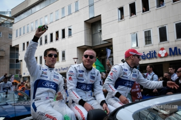 No 66 FORD CHIP GANASSI TEAM UK FORD GT Stefan MUCKE Olivier PLA Billy JOHNSON, FIA WEC 24h Le Mans Drivers Parade - Circuit de la Sarthe - 3rd June 2018