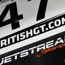 #47 Jetstream Motorsport. Aston Martin V12 Vantage GT3. Graham Davidson. Maxime Martin. 2018 British GT Championship Media Day Donington Park Session 2