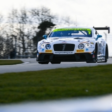#1 Team Parker Racing. Bentley Continental GT3. Rick Parfitt. Ryan Ratcliffe. 2018 British GT Championship Media Day Donington Park Session 2