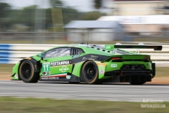 No 11 GRT Grasser Racing Team Lamborghini Huracan -GT3 GTD, IWSC Sebring Test, February, 2017