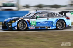 No 14 3GT Racing Lexus RCF GT3 GTD, IWSC Sebring Test, February, 2017