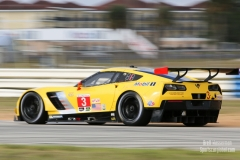 No 3 Corvette Racing C7.R GTLM, IWSC Sebring Test, February, 2017