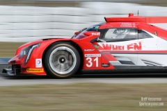 No 31 Whelen Engineering Racing Cadillac DPi, IWSC Sebring Test, February, 2017