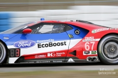 No 67 Ford Chip Ganassi Racing Ford GT GTLM, IWSC Sebring Test, February, 2017